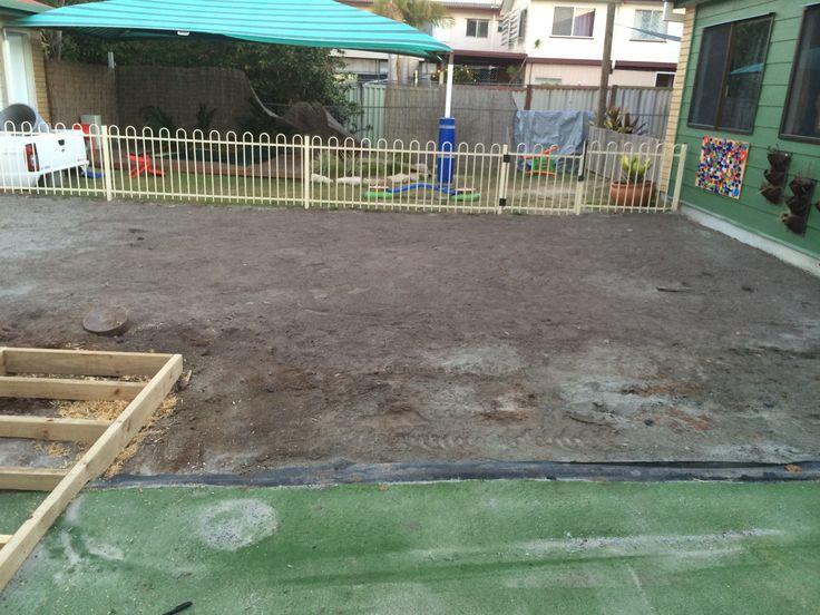 Senior yard upgrade - natural grass to be laid here