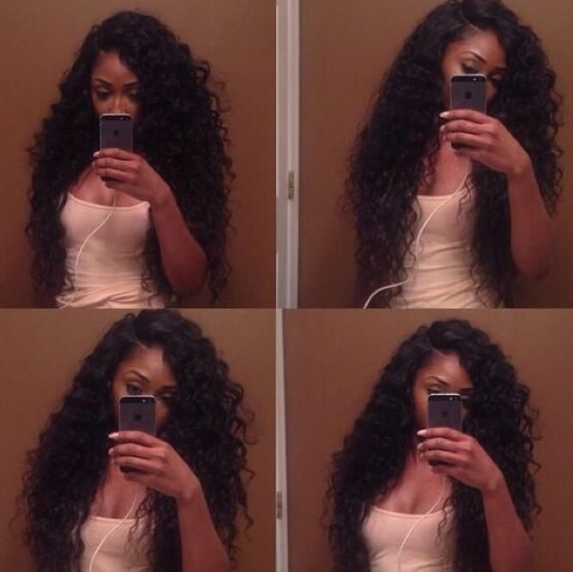 Long deep wave hair weave