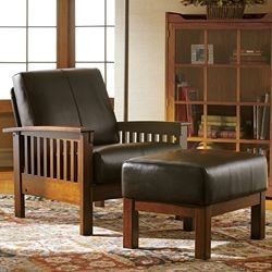 Mission Style Chair Amp Ottoman Mission Style Pinterest