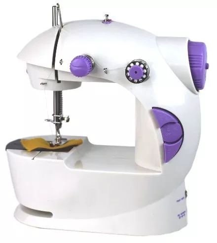 mini maquina costura eletrica portatil pilha eletrica roupa