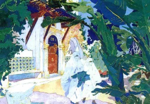Peinture Algérie - Maison à Alger par Léon Cauvy