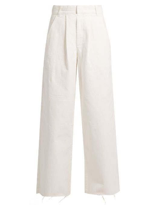 Wide-leg nude jeans | Raey. Available here: http://rstyle.me/n/chnyrsbcukx