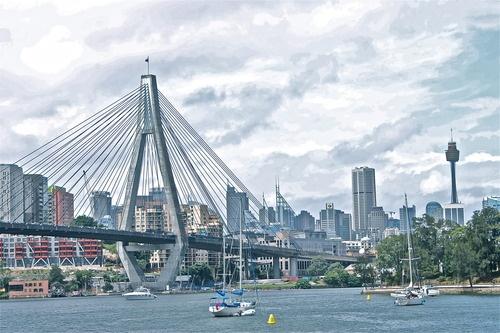 Anzac Bridge, Sydney, Australia #yankinaustralia #australia