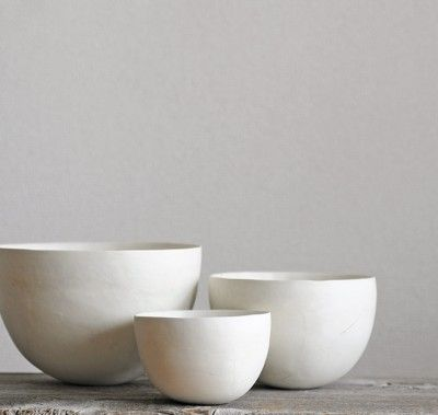 White Bowls by Koichi Uchida
