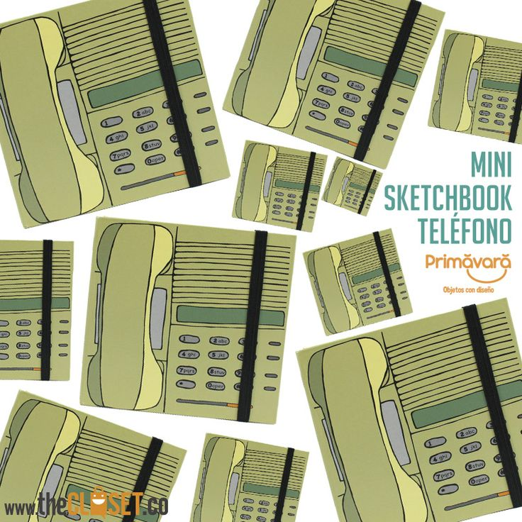 Mini Sketchbook - teléfono, www.thecloset.co
