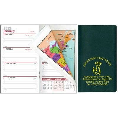 Features A Week At A Glance Format In A Two Color Print Includes Full Color U S Atlas W City Maps In Back Pages For Important Phone Numbers And Dates