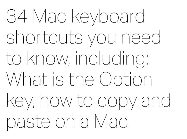 How to copy + paste on Mac, and other keyboard shortcuts