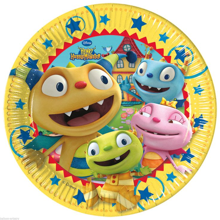 "8 Disney Henry Hugglemonster Birthday Party 9"" Disposable Paper Plates #Party #Birthday"