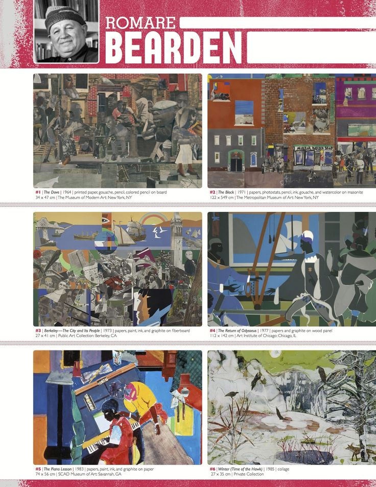 The smARTteacher Resource: ROMARE BEARDEN (Artist Binder Notes)