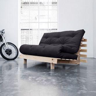 Banquette convertible en bois avec matelas futon ROOTS Karup port offert