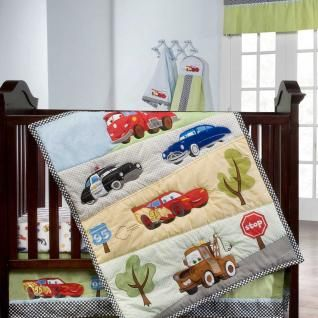Disney Jr Junction Fast Friends Bedding by Kidsline - Disney Cars Baby Crib Bedding - holy smokes his youngest brother would never leave his room!