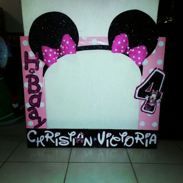 Marcos para foto Minnie mouse | baby shower | Pinterest | Marcos ...