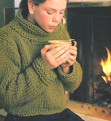 Sweater Knitting Pattern Big Needles Sweater Tunic