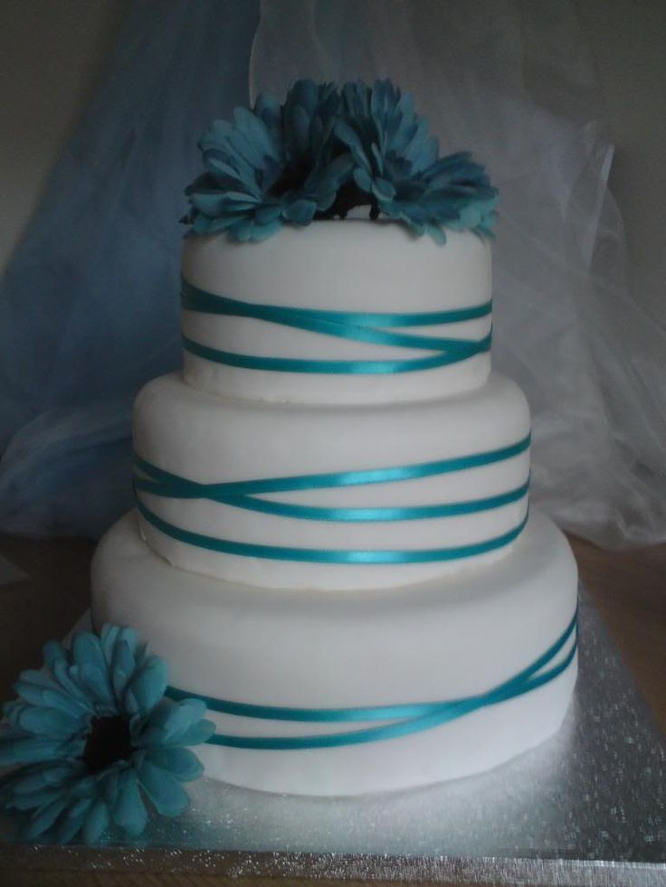 aqua and tan wedding cakes | Aqua wedding cake picture by cakesbyoccasion - Photobucket
