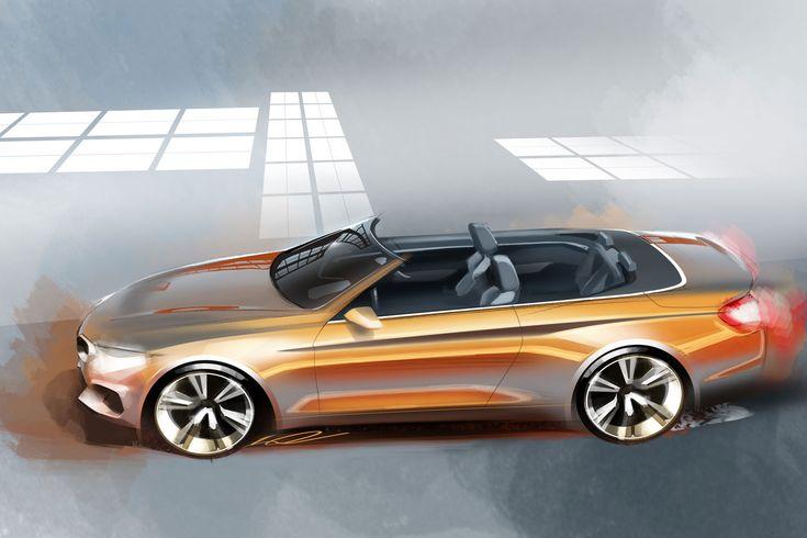 BMW 4 Series Convertible - Design Sketch - Car Body Design