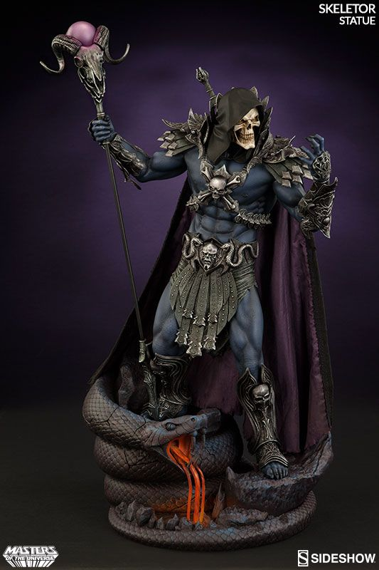 Masters of the Universe Skeletor New Statue, by Sideshow. Nova estátua do Esqueleto, feito pela Sideshow.