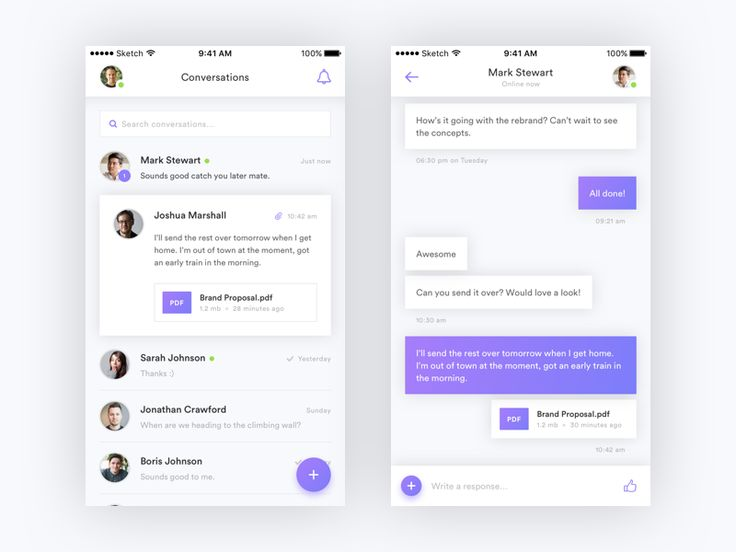 Messaging App iOS Concept For Ordering Design with our ordering system please visit http://ift.tt/1t6hab0