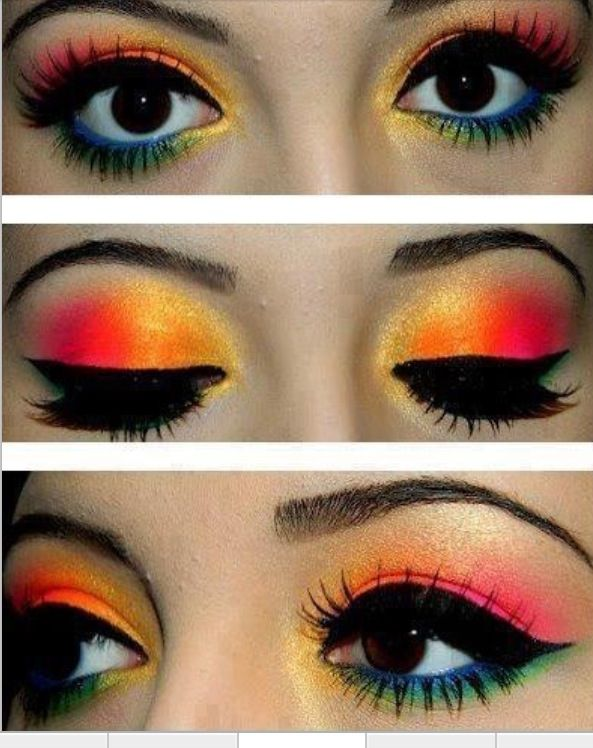 Thats Some Funky Makeup Funky Cool Eye Makeup Makeup Colorful