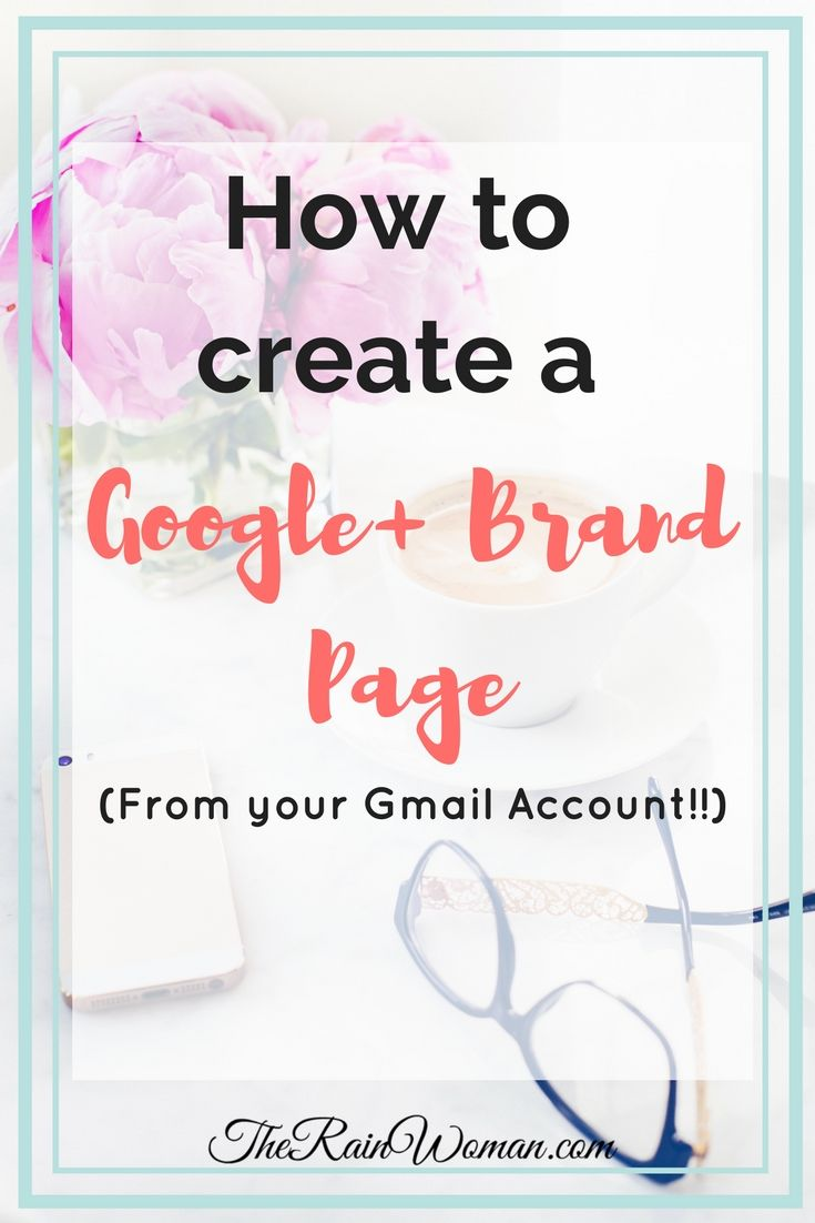 how to create a brand account