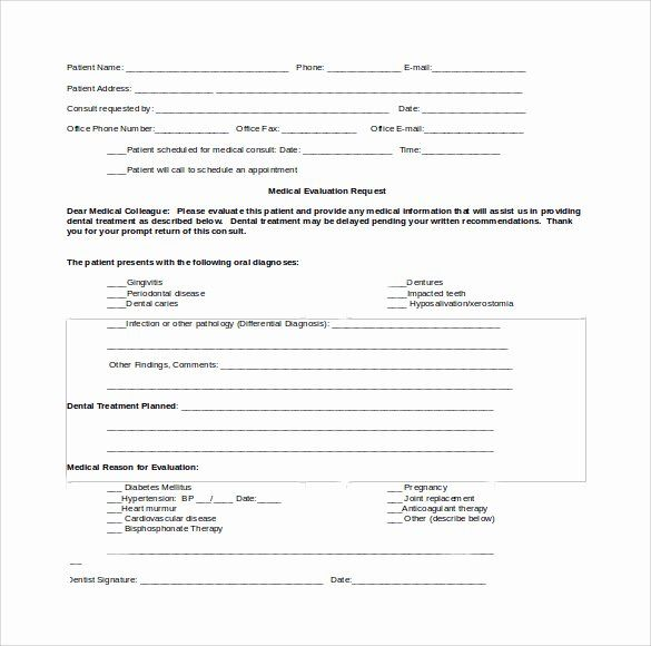 Dental Patient Forms Template Fresh Sample Medical Consultation Form 11 Download Free Doctors Note Template Notes Template Medical Consultation