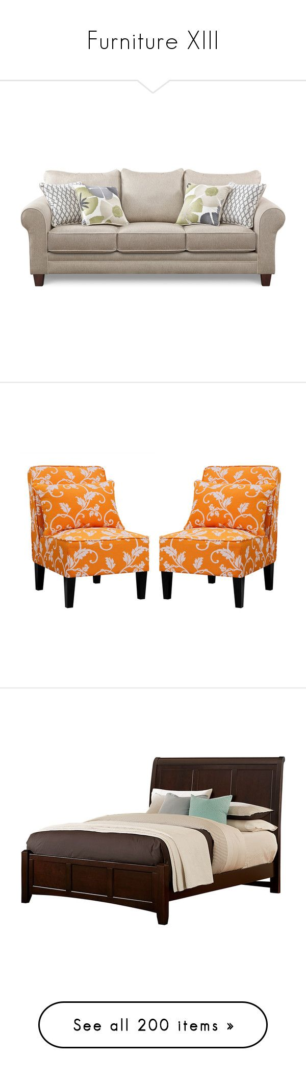 """""""Furniture XIII"""" by vanjazaric6886 ❤ liked on Polyvore featuring home, furniture, chairs, orange furniture, pair chairs, set of 2 chairs, armless furniture, set of two chairs, beds and cherrywood furniture"""