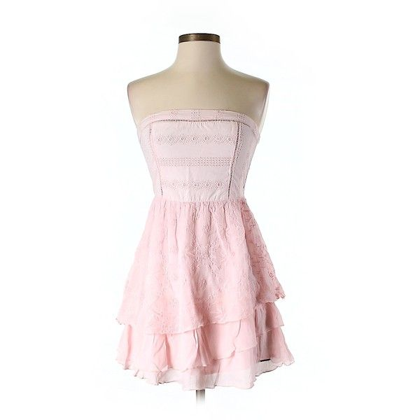 Pre-owned Abercrombie & Fitch Casual Dress ($16) ❤ liked on Polyvore featuring dresses, light pink, abercrombie & fitch, pink dress, light pink dress, abercrombie fitch dresses and pre owned dresses