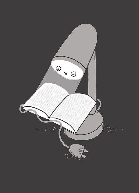 Luz para leer, siempre (ilustración de Randy Otter)