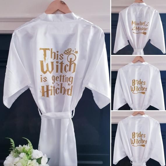 Harry Potter Inspired Satin Gown Robe Dressing Gown For Bridal Shower Wedding Day Gifts More Various Sizes Availalable Up To Xxl In 2020 Harry Potter Wedding Theme Harry Potter Wedding