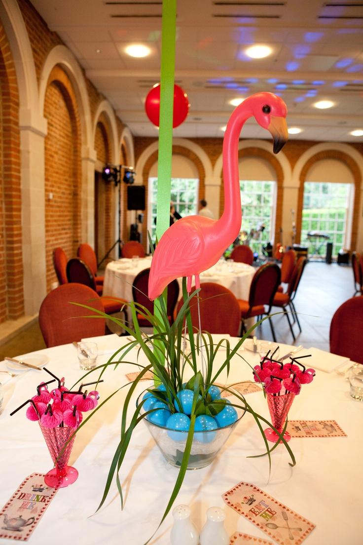 Baby flamingo car interior design - Flamingo Centre Piece Alice In Wonderland Themed Party