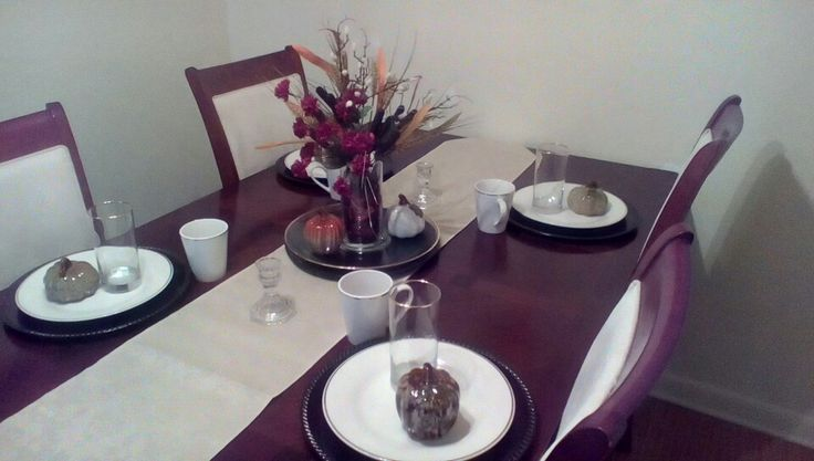 Tablescape created with Dollar Tree items and Hobby Lobby's sales items. Total cost $26.