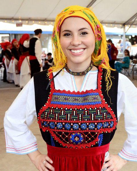 Woman's Thraki or Thracian costume. NE Greece