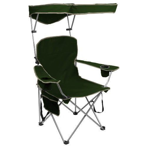 Beach Chair Camping Chairs w/ Canopy Shade Adjustable Folding Camp Portable NEW #Kbrand