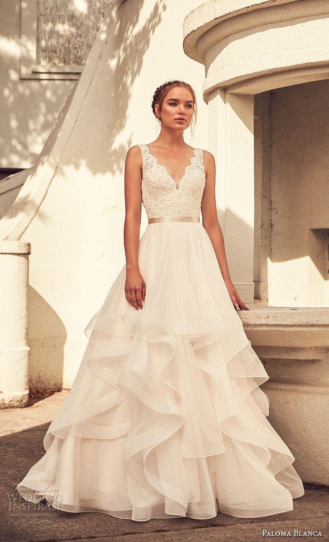 Weddinginspirasi.com mettant en vedette – paloma blanca printemps 2018 mariée sans …