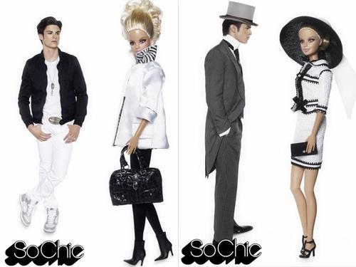 O designer e fotógrafo Karl Lagerfeld fez um ensaio do modelo italiano Baptiste Giabiconi como Ken ao lado da Barbie para a boutique francesa Colette. Nas fotos, o modelo contracena com a boneca em proporções alteradas, pra simular uma humana.