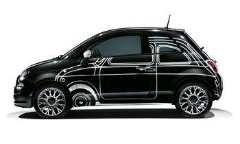 La Fiat 500 encore plus Couture !  #Fiat #Fiat500 #voiture #design #hautecouture #noir #black  http://fashions-addict.com/La-Fiat-500-encore-plus-Couture_381___1073.html