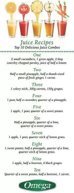Some new juicing recipes for me to try! Yum