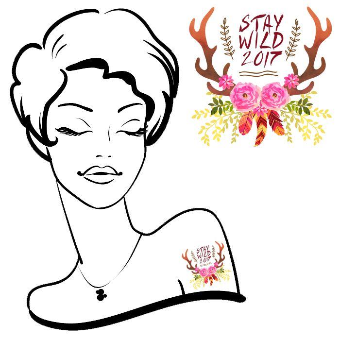 Stay Wild 2017 Tattoo #53 (12 pack)