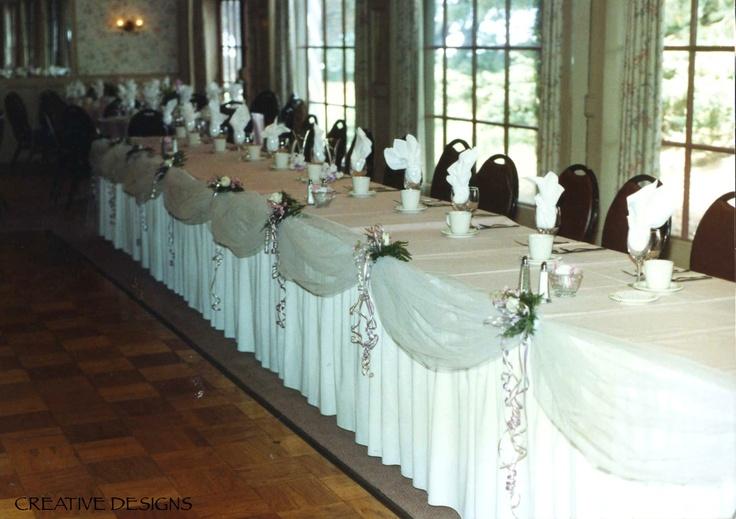 White Tulle Drape On Head Table Headtables Head Table