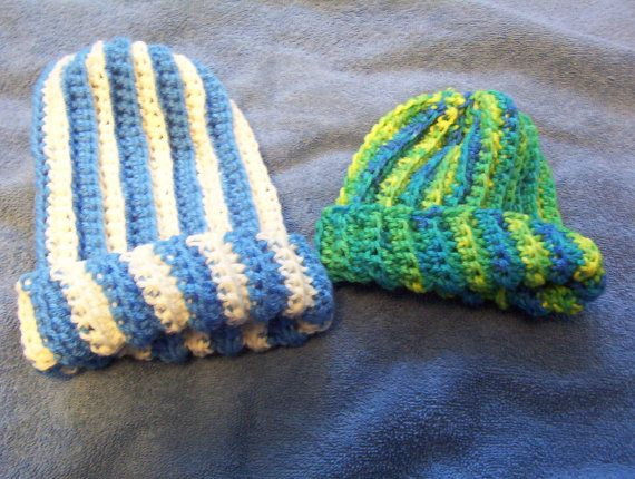 2 Crocheted Baby Hats by Gifts4u2 on Etsy, $10.00