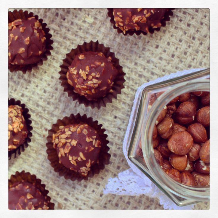 Ferrero Rocher (aka six ingredient chocolate hazelnut balls) | Dower & Hollingsworth