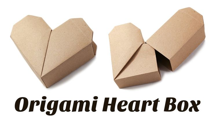 Here are the instructions to make a cute origami heart box, this box has a surpr…