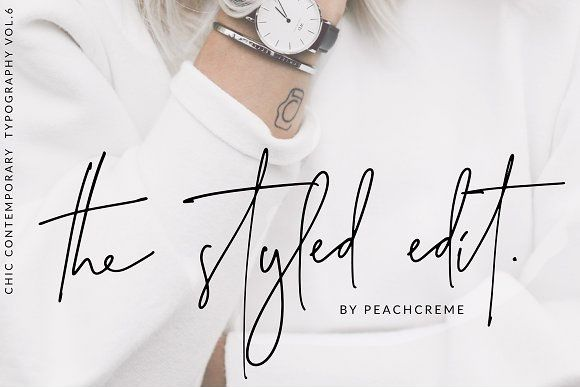 The Styled Edit Font by Peach Creme