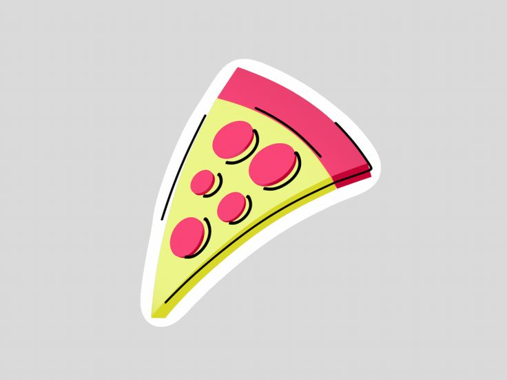 """SINGLE GIF: '""""Pizza"""" byNikita MelnikovonNov. 23, 2017. One of the many stickers that are made for my friends from """"Wavy"""". To see more of my work, please follow me: Instagram 