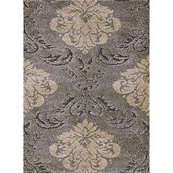 grey tan rug