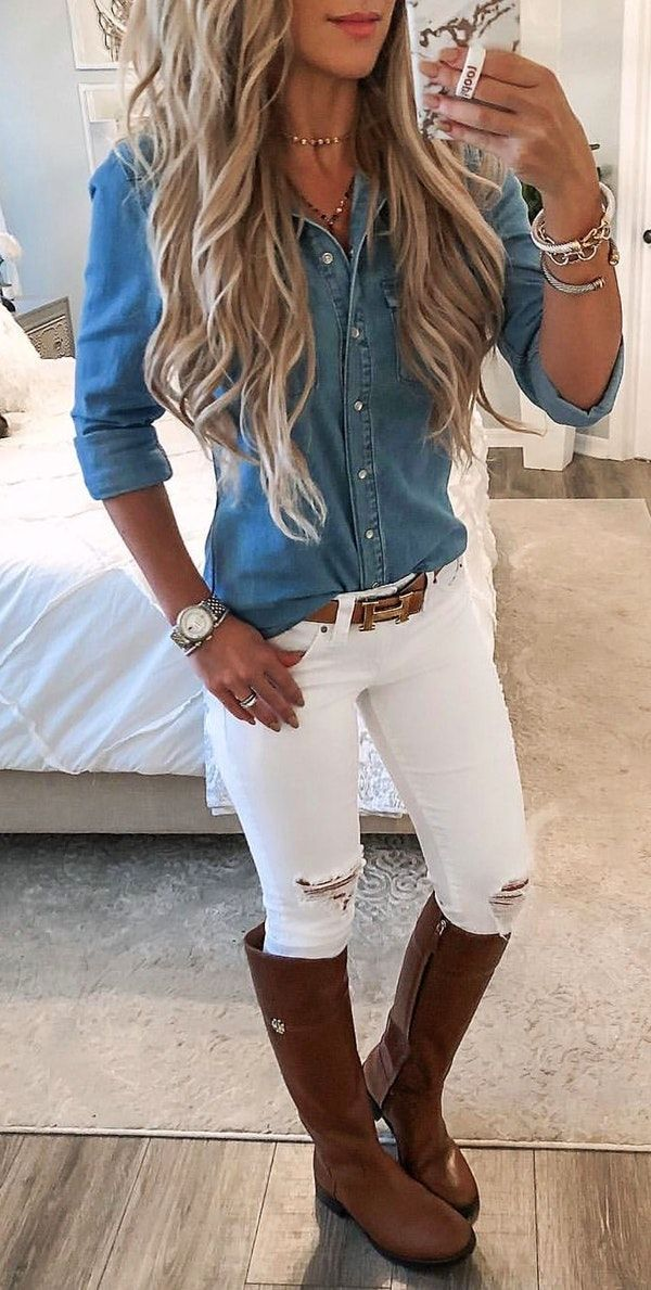 #summer #outfits  women's blue denim jacket. – N U R I✨