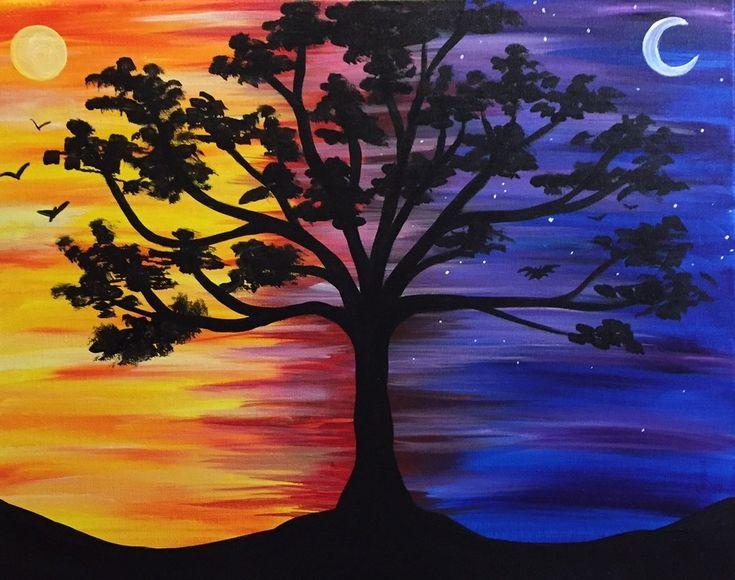 рисунок день и ночь красками скромничает балует поклонников