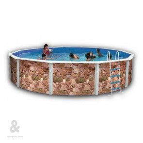 17 best images about piscinas montables de acero on for Funda piscina redonda
