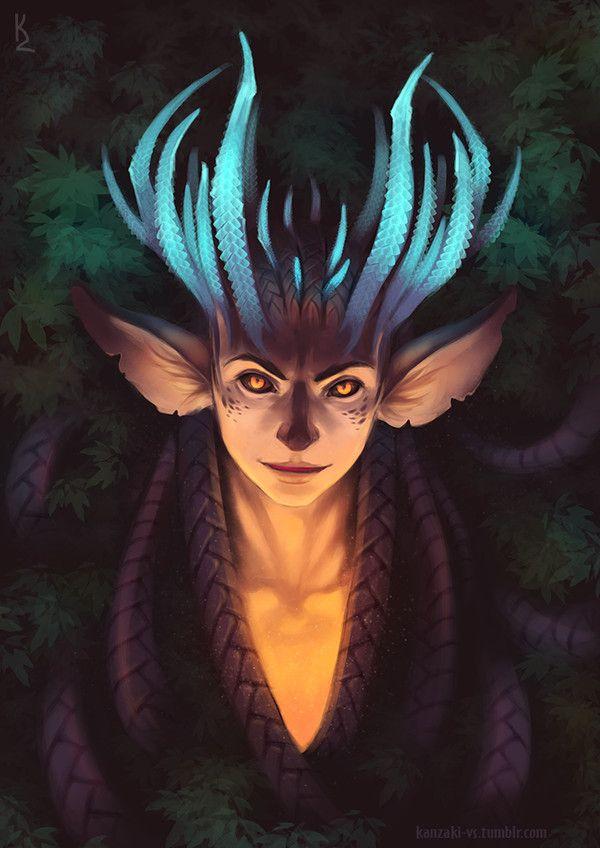 Меняла сумрачного леса арт, монстр, рога, демон, мужик с рогами, фентези