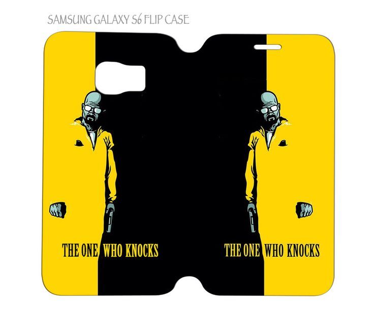Samsung Galaxy S6 G920 Folio Flip Case Cover Breaking Bad The One Who Knocks #QuinnCafe