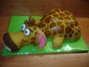 Детский торт жираф Мелман из мультфильма «Мадагаскар». Мастер-класс-шаг 17